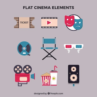 Flat cinema elements
