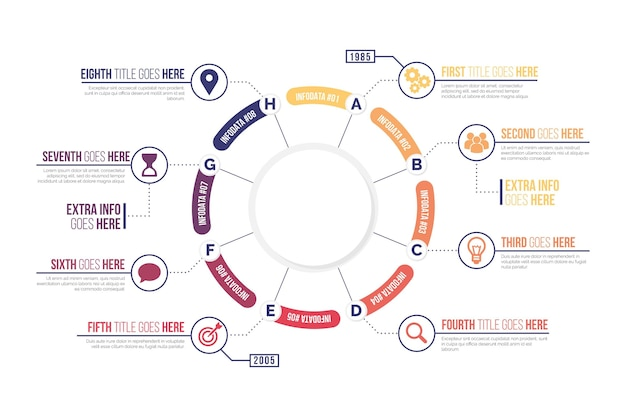 Flat circular diagram infographic