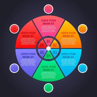Плоская круговая диаграмма инфографики Бесплатные векторы