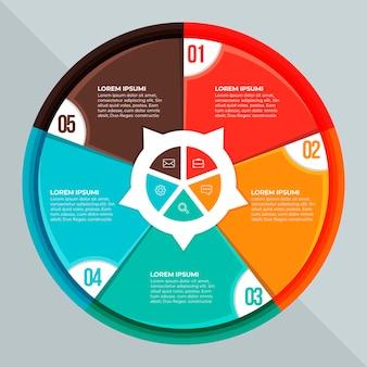 Infografica diagramma circolare piatto Vettore gratuito