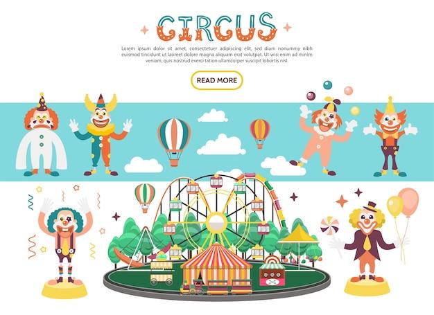 Concetto di circo piatto