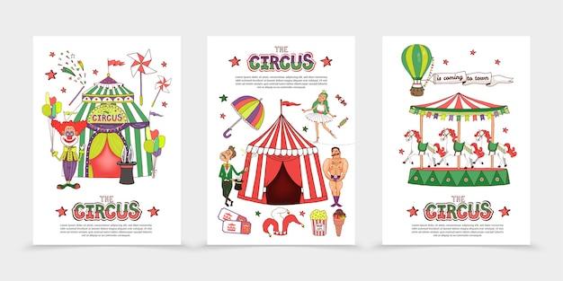 Flat circus posters