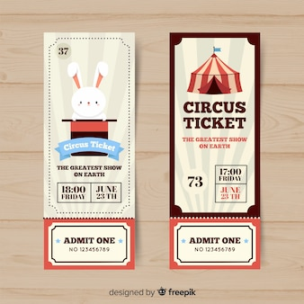 Flat circus ticket template