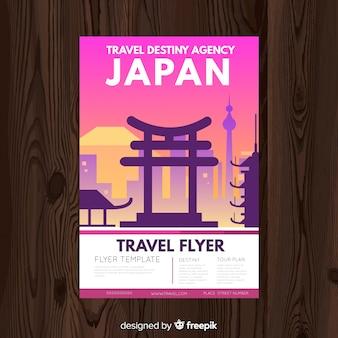 Flat cityscape travel poster