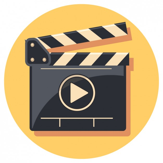 Flat Clapperboard Icon