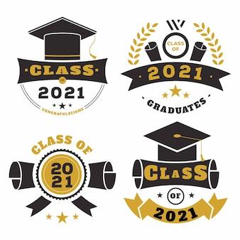 Classe piatta della raccolta di badge 2021
