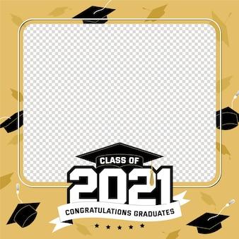 Flat class of 2021 frame template