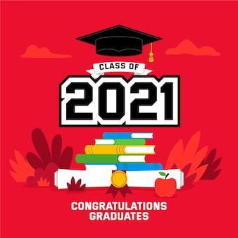 Classe piatta dell'illustrazione 2021