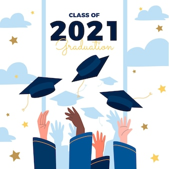 Flat class of 2021 illustration
