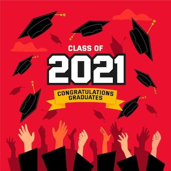 2021年イラストのフラットクラス