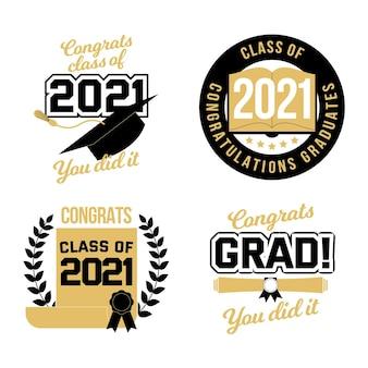 2021年のラベルコレクションのフラットクラス