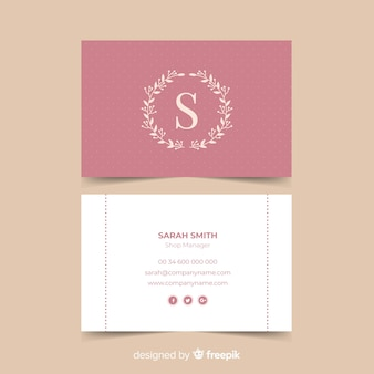 Flat classic business card template