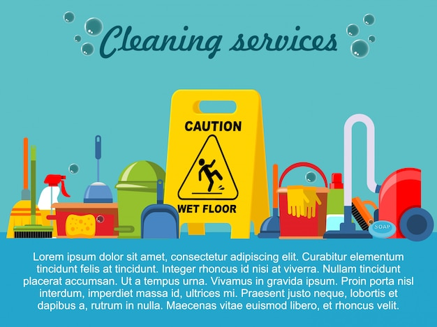 Flat cleaning service template