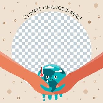 Cornice facebook piatta sul cambiamento climatico