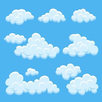 Коллекция плоских облаков