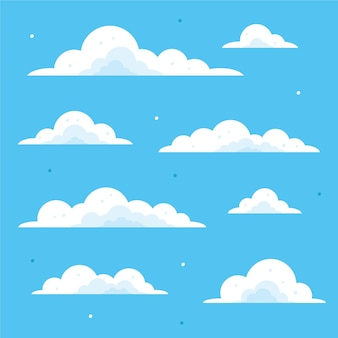 空のコレクションの平らな雲