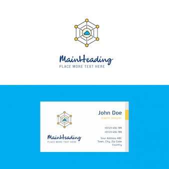Flat cloud network  logo and visiting card template.