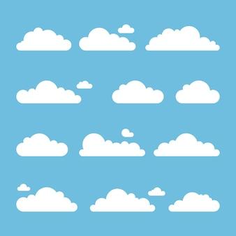 플랫 구름 컬렉션