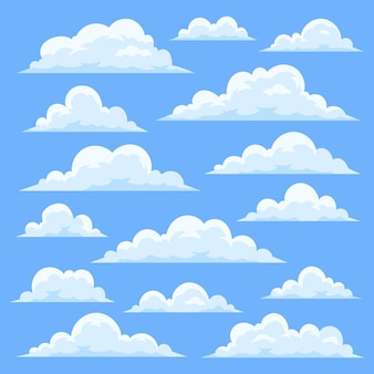 Flat clouds collection