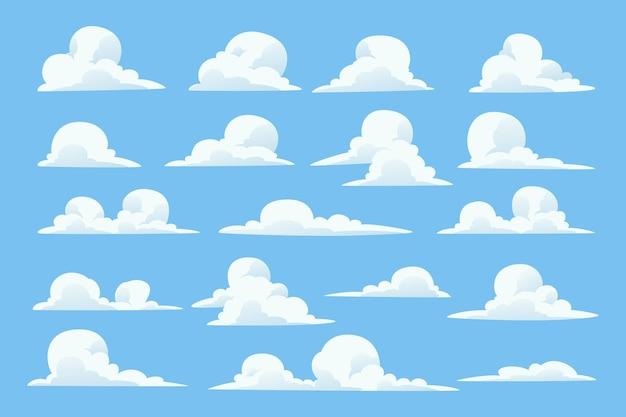 Collezione di nuvole piatte