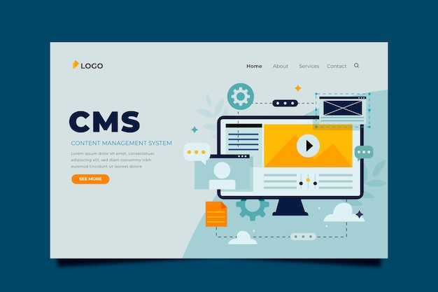 Flat cms content template