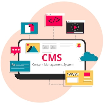 Flat cms web template
