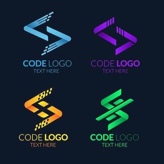 Коллекция логотипов flat code