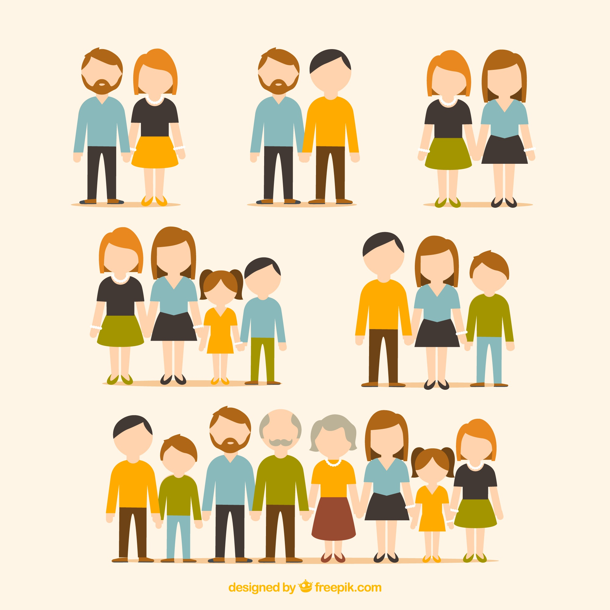 Flat collection of families