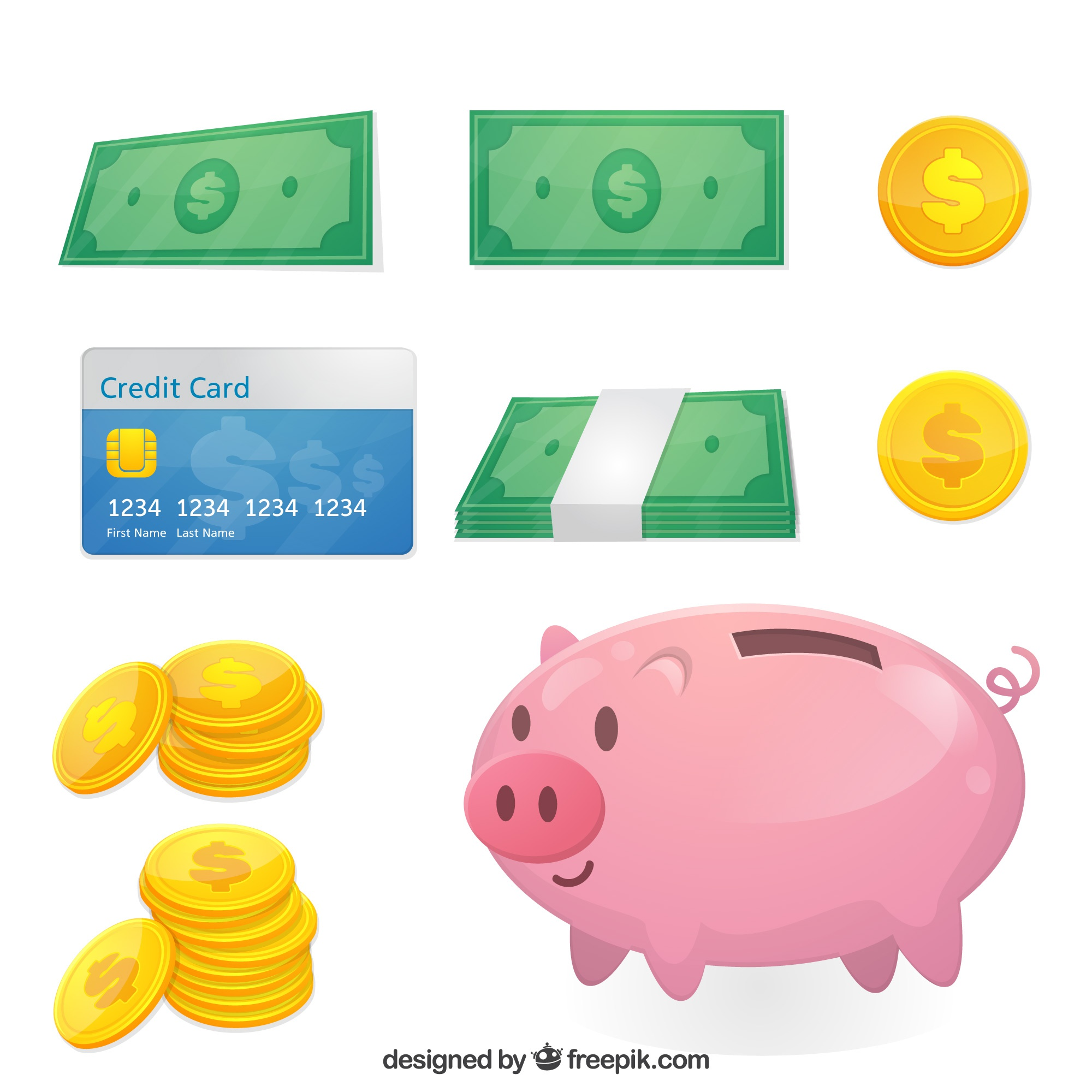 Flat collection of money elements