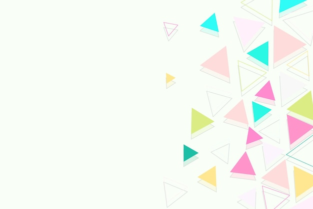 Flat colored triangles background