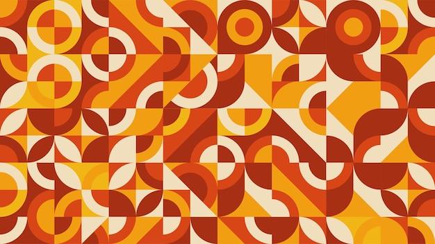 평면 다채로운 추상적인 기하학적 모양 배경 템플릿