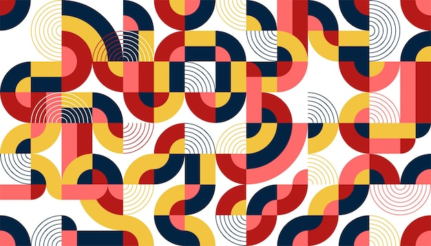 Flat colorful abstract geometric shapes background template