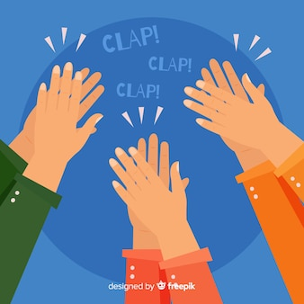 Flat colorful applause background