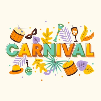 Flat colorful carnival illustration