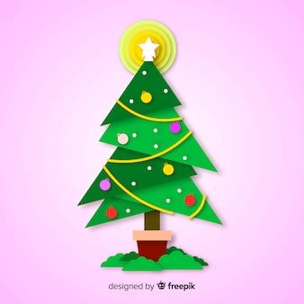Flat colorful christmas tree