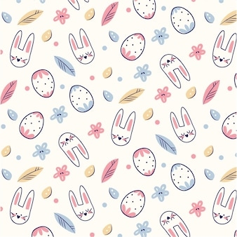 Flat colorful easter pattern
