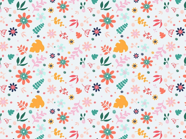 Flat colorful floral background