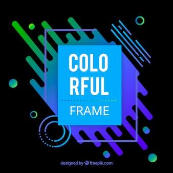 Piatto sfondo colorato cornice
