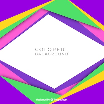 Flat colorful frame background