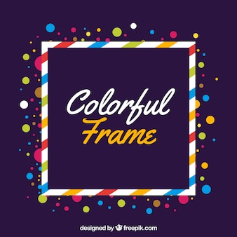 Flat colorful frame