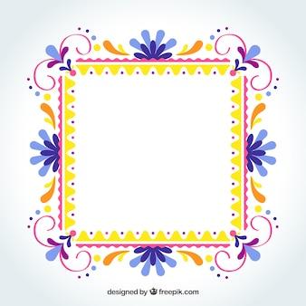 Плоская красочная рамка