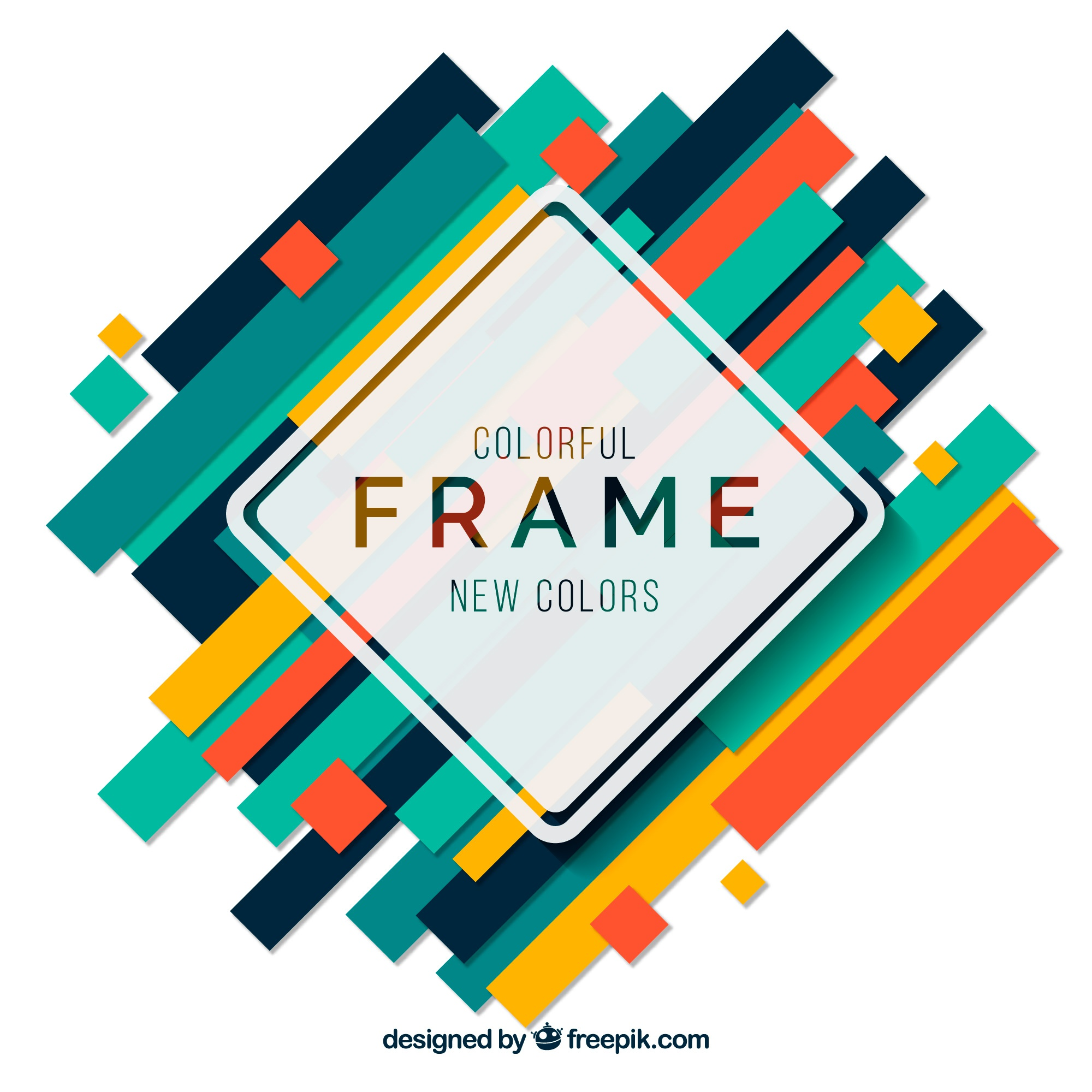Flat colorful frames collection