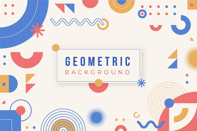 Flat colorful geometric background