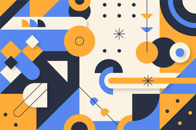 Flat colorful geometric background
