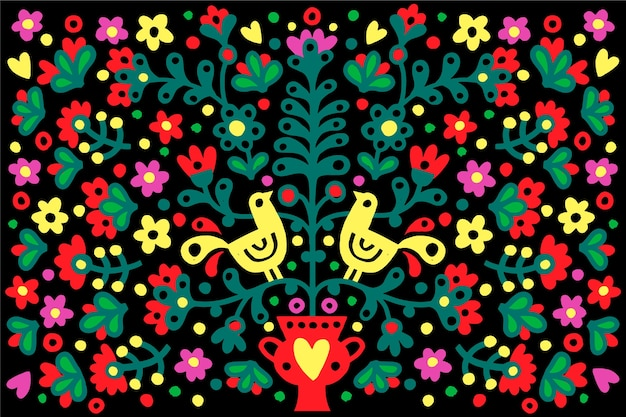 Flat colorful mexican background