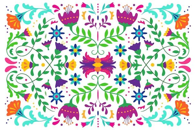 Плоская красочная мексиканская заставка