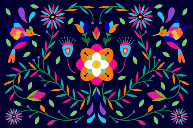 Flat colorful mexican screensaver