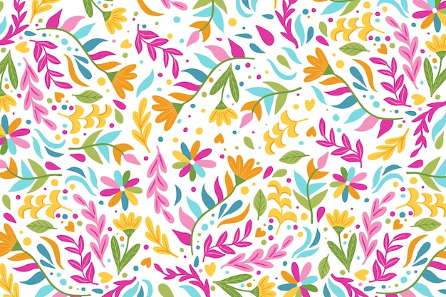 Flat colorful mexican wallpaper