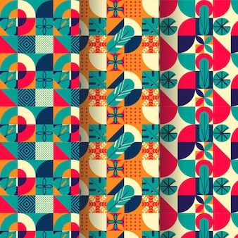 Flat colorful mosaic abstract pattern
