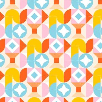 Flat colorful mosaic pattern